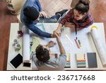 working group. three young... | Shutterstock . vector #236717668