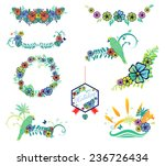 set of designs on vacation... | Shutterstock .eps vector #236726434