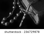 Rosary On The Bible