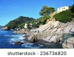 zoagli small village in liguria ... | Shutterstock . vector #236736820