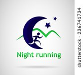 athlete running at night under... | Shutterstock .eps vector #236741734