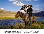 Kazakh Men Traditionally Hunt...