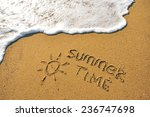 Summer Time Sign On The Sand...