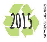 illustration of a  recycle sign ... | Shutterstock .eps vector #236750134