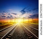 railway receding into the... | Shutterstock . vector #236753530