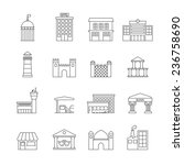 government building icons... | Shutterstock . vector #236758690
