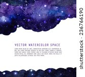 Space Watercolor Background...