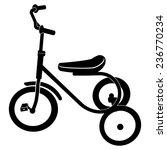 tricycle for children vector   Shutterstock .eps vector #236770234