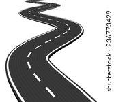 vector illustration of winding... | Shutterstock .eps vector #236773429