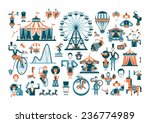 circus. colored icons on white... | Shutterstock .eps vector #236774989