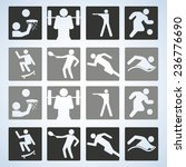 sport set. players. editable