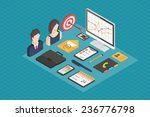 business isometric 3d icons ... | Shutterstock .eps vector #236776798