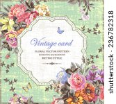 vintage floral vector card with ... | Shutterstock .eps vector #236782318