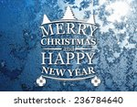 merry christmas and new year... | Shutterstock . vector #236784640