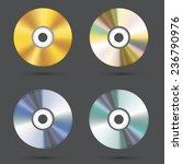 vector modern cd icons set on... | Shutterstock .eps vector #236790976
