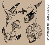 tattoo flash | Shutterstock .eps vector #236792710