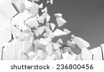 3d rendering destruction of wall | Shutterstock . vector #236800456