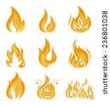 fire design over white... | Shutterstock .eps vector #236801038