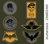 special unit military emblem... | Shutterstock .eps vector #236802460