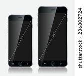 realistic black mobiles phones...   Shutterstock .eps vector #236802724