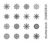 snowflake icon set 5  vector... | Shutterstock .eps vector #236802814