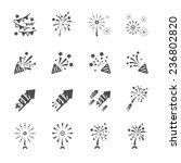 firework icon set 3  vector... | Shutterstock .eps vector #236802820