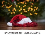 a santa hat in front of a... | Shutterstock . vector #236806348