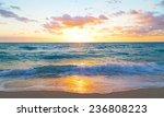Sunrise Over The Ocean In Miami ...