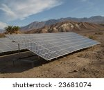 solar panels in death valley 4 | Shutterstock . vector #23681074