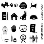 pet icons set | Shutterstock .eps vector #236810920