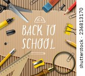 welcome back to school template ... | Shutterstock .eps vector #236813170