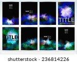 set of templates brochure....   Shutterstock .eps vector #236814226