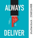 word always deliver | Shutterstock .eps vector #236816488