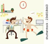 office scene with businessman...   Shutterstock .eps vector #236818663