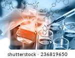 researcher is dropping the... | Shutterstock . vector #236819650