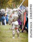 knight in armor and a helmet... | Shutterstock . vector #236820940