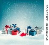 winter background with presents.... | Shutterstock .eps vector #236824723