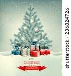 christmas tree with presents... | Shutterstock .eps vector #236824726