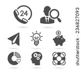 business finance icons isolated ... | Shutterstock .eps vector #236827093