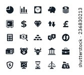 stock and finance icons vector... | Shutterstock .eps vector #236830213