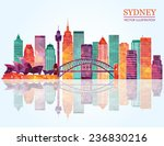 sydney city skyline detailed... | Shutterstock .eps vector #236830216