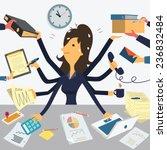 businesswoman working with...   Shutterstock .eps vector #236832484