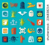 set of halloween icons | Shutterstock .eps vector #236838214