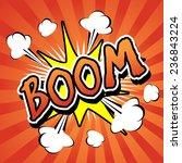 boom    comic speech bubble ... | Shutterstock .eps vector #236843224