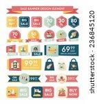 space sale banner flat design... | Shutterstock .eps vector #236845120