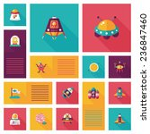 space flat app ui background... | Shutterstock .eps vector #236847460