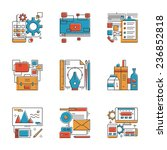 abstract icons of design agency ... | Shutterstock .eps vector #236852818
