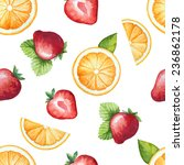 seamless pattern  watercolor... | Shutterstock .eps vector #236862178