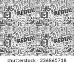 seamless doodle communication... | Shutterstock .eps vector #236865718