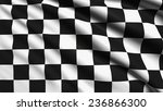 checkered flag with fabric